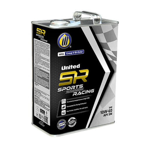 Моторное масло United SR Sport Racing 10W60 SN 4L